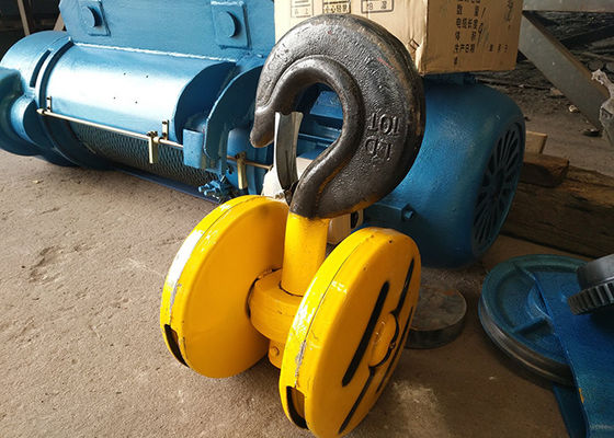 10 Ton Construction lifting Electric Wire Rope Hoist 50/60HZ 3 Phase